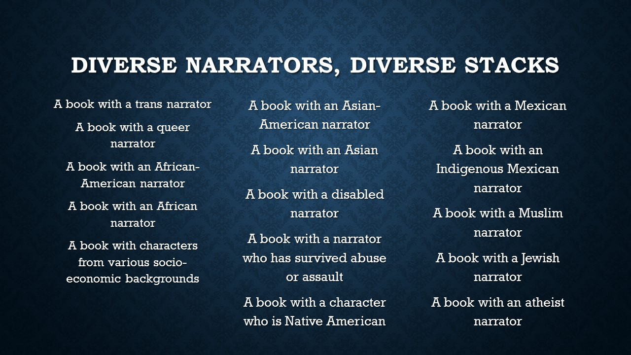 Diverse Narrators, Diverse Stacks.jpg
